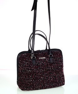 Dámska kabelka z vlny Kbas s rúčkami a popruhom bordová