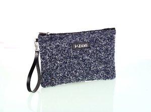 Dámska listová kabelka z vlny Kbas modrá