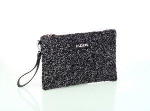 Dámska listová kabelka z vlny Kbas čierna