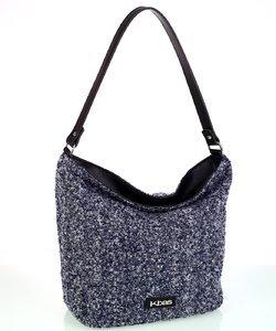 Veľká dámska kabelka z vlny Kbas modrá