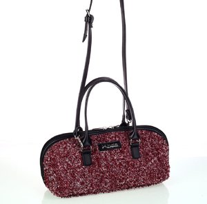 Dámska kabelka z vlny Kbas s rúčkami a popruhom granátová