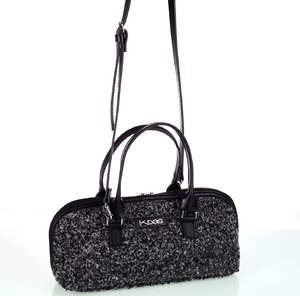 Dámska kabelka z vlny Kbas s rúčkami a popruhom čierna