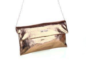 Dámska kabelka s retiazkou cez rameno a metalickým odleskom Kbas zlatá