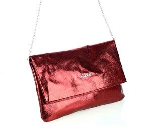 Dámska kabelka s retiazkou cez rameno z eko kože Kbas metalický odlesk granátová
