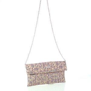 Dámska listová kabelka z plátna Kbas fialová 085806L