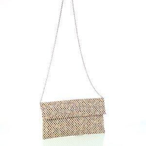 Dámska listová kabelka z plátna Kbas hnedá 085806M
