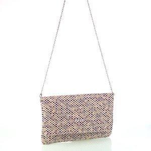 Dámska plátená listová kabelka s retiazkou Kbas fialová 085808L