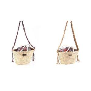 Košík z palmové trávy s uzavíretelným vakem Kbas KB085830