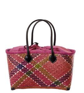 Coșuleț din fibre de palmier Kbas pentru dame cu căptușeală ciclam 087172P