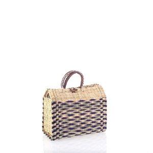 Košík s koženými rúčkami malý KB087301