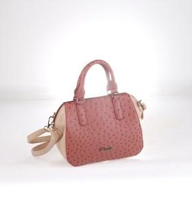 Elegantná kabelka z eko kože Kbas s odopínateľným ramienkom oblá ružová