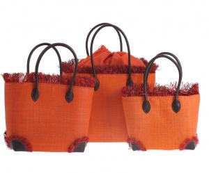 Set coşuleţe din rafie Kbas portocaliu 3 buc
