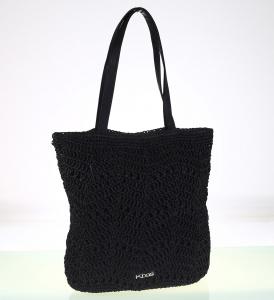 Dámska taška zo syntetickej rafie Kbas čierna