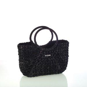 Dámska slamená taška Kbas čierna 112804N