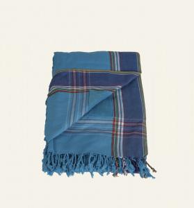 Kbas uterák-šatka na pláž 2v1 kombinácia bavlna a froté tyrkysové 116514TU