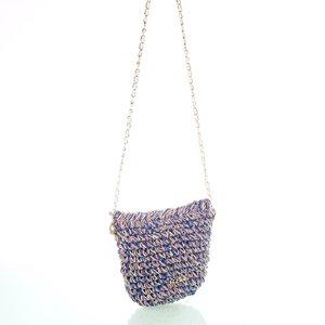 Dámská kabelka přes rameno z rafie Kbas fialová 147802L