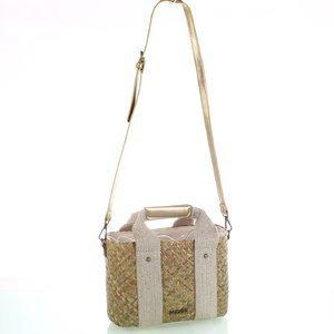 Dámska slamená kabelka na rameno Kbas zlatá 147812OR