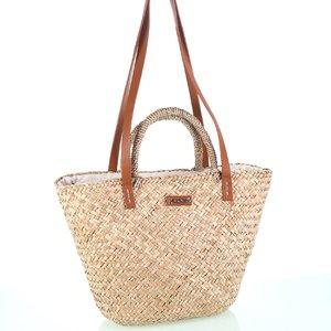 Taška cez rameno so zipsom z morskej trávy Kbas KB147901