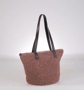 Dámska taška zo syntetickej rafie Kbas na zips ružová 112607RP