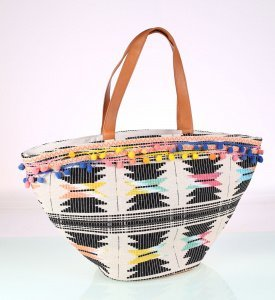 Plátená taška Kbas farebná vzorovaná