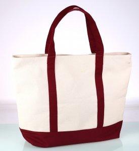 Plátěná taška Kbas krémově-bordová