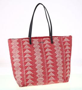 Dámska taška Kbas s etno vzormi červená