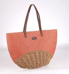 Plátěná taška Kbas s dekorativním dnem korková