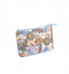 Geantă cosmetică din nailon cu imprimeu etno Kbas colorată 184604TU