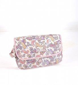 Kosmetická taška z PVC Kbas s potiskem růžová