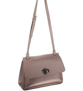 Elegantná kabelka cez rameno z eko kože Kbas s ozdobným zapínaním béžová