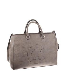 Elegantná kabelka z eko kože Kbas s motívom zavináča tmavošedá