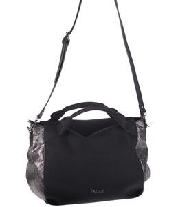 Elegantná kabelka z eko kože Kbas bowlingová s dvoma uškami čierna