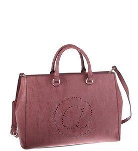 Elegantná kabelka z eko kože Kbas s motívom zavináča bordová