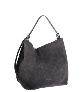 Elegantná kabelka z eko kože Kbas s odopínateľným popruhom sivá