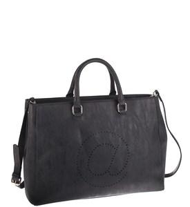 Elegantná kabelka z eko kože Kbas s motívom zavináča čierna