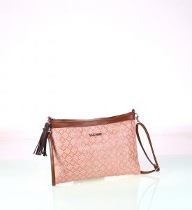 Listová kabelka z PP Kbas cez rameno ružová 215701RS