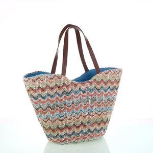 Dámska pletená taška Kbas pestrofarebná 215807