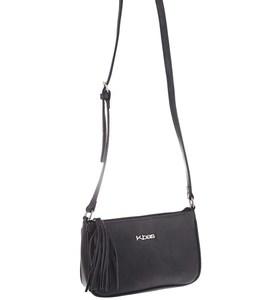Dámska kabelka cez rameno z eko kože Kbas so strapcom sivá