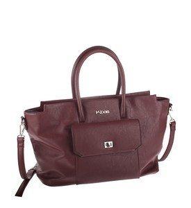 Elegantná kabelka z eko kože Kbas s predným vreckom bordová