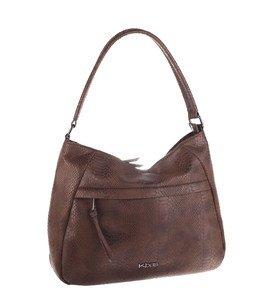 Elegantná kabelka z eko kože Kbas s motívom hadej kože hnedá