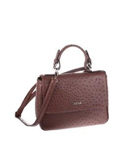 Elegantná kabelka z eko kože Kbas hnedá