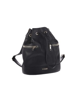 Dámsky batoh z ekokože Kbas so sťahovaním čierny