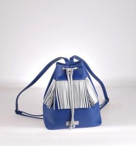 Táska hátizsák fazonnal Kbas vízálló anyagból díszes szegélyezéssel kék 085623AZ