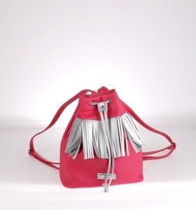 Dámský batoh s třásněmi Kbas červený