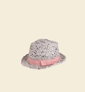 Unisex klobouk ze syntetické rafie Kbas s flitry různé barvy