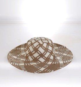 Dámsky klobúk zo syntetickej rafie Kbas so vzorom rôzne farby