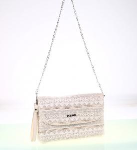 Dámska kabelka cez rameno zo slamy Kbas biela