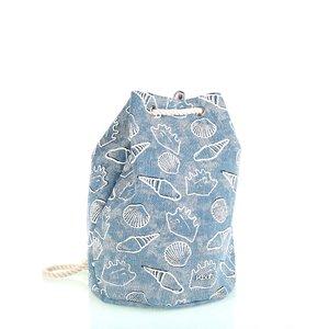 Bavlněný batoh s uzavíráním Kbas modrý KB296907AZ