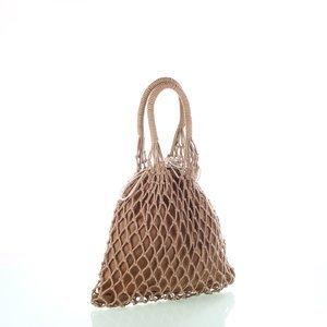 Bavlnená sieťovaná taška Kbas béžová 308809BE
