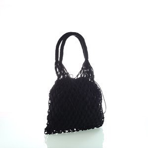 Bavlnená sieťovaná taška Kbas čierna 308809N